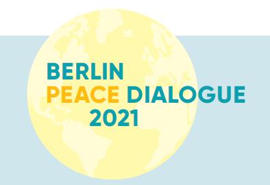 Grafik zur Konferenz des Beirats Berlin Peace Dialogue 2021